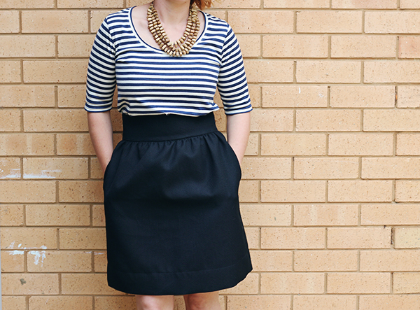Black-Gathered-Skirt