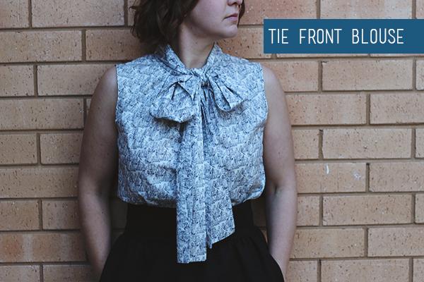 Burda-Tie-Front-Blouse