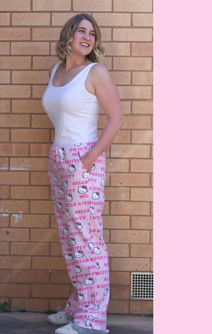 Carolyn Pajamas, Carolyn Pyjamas, Carolyn Pajamas Review, Carolyn Pyjamas, Closet Case Files, Closet Case Patterns, Closet Case Patterns Carolyn Pajamas, Closet Case Patterns Carolyn Pyjamas, Sewing, Hello Kitty PJs, Me Made Wardrobe, DIY PJ Pants, Canberra Sewing Blogger, Canberra Sewing