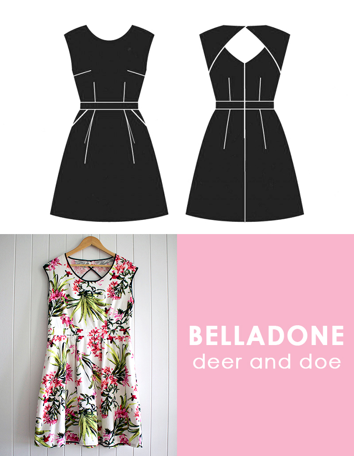 Deer and Doe. Belladone Dress, Robe Belladone, Belladone Review. Deer and Doe Review, Floral Dress, Sewing, Me Made Wardrobe,