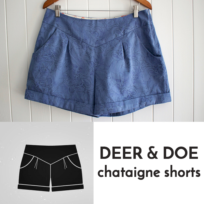 Deer and Doe, Chataigne Shorts, Sewing, Deer and Doe Patterns, Beginning Sewing, DIY, Memade Wardrobe, Liberty Fabric, Unicorn Shorts, Sewing Blogger, Canberra Sewing, Canberra Sewing Blogger,