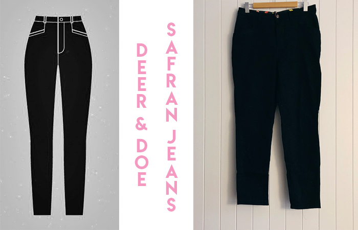Deer and Doe Safran, Safran Jeans, Safran Pants, The Fabric Store, Black Jeans, Sewing, Me Made Wardrobe, Sewing Blogger,