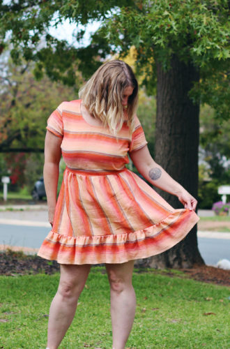 Amanda vs Ruffle Hem Dress